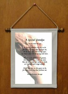 A Special Grandpa {for grandson} - Personalized Wall Hanging (570-1b)