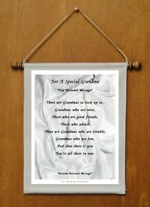 For A Special Grandma - Personalized Wall Hanging  (1149-1)