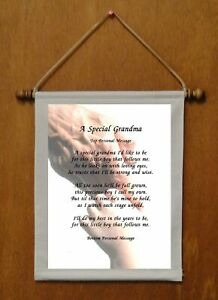 A Special Grandma {for grandson} - Personalized Wall Hanging (569-1b)