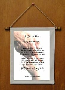A Special Sister {of brother} - Personalized Wall Hanging (566-1b)