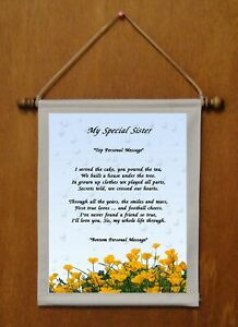 My Special Sister - Personalized Wall Hanging (686-1)