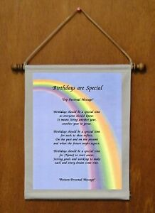 Birthdays Are Special - Personalized Wall Hanging (116-2)