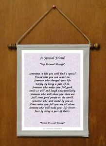 A Special Friend - Personalized Wall Hanging (1142-1)