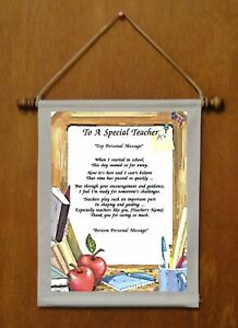 To A Special Teacher - Personalized Wall Hanging (245-2)