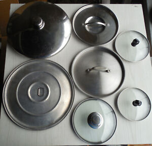 Replacement Lid Cover w/Handle for Pot: Choose from Glass, Stainless, Aluminum +