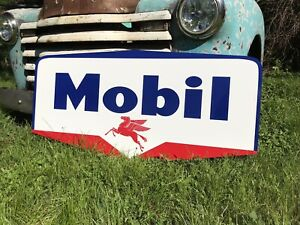 Antique Vintage Old Style Mobil Sign $185.00