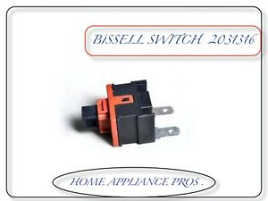 Bissell On Off Switch Healthy Home Upright Vacuum # 203-1316, 2031316