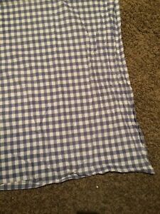 Country Gingham Tablecloth Blue & White checked almost square 50