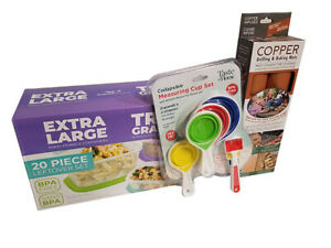 Kitchen Kit bundle, Food storage containers, Measuring cups, Grilling