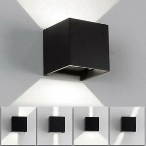 12W Modern LED Wall Lights Up & Down Cube Sconce Lighting Lamp Waterproof IP65