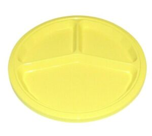 Set of 4 PackerWare Yellow Divided Plastic Plates Picnic Camping Outdoors
