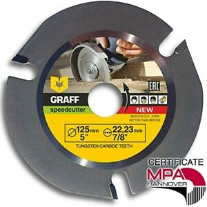 GRAFF Speedcutter 5-Inch Circular Saw Blade for Angle Grinder, Disc for Wood Ca