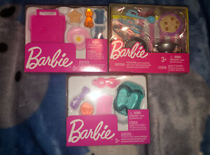 Lot Of 3 Barbie Doll Kitchen And Spa Accessories