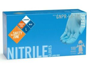 100 NITRILE GLOVES, POWDER FREE LATEX FREE THE SAFETY ZONE Working Gloves M L XL
