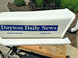 Vintage Dayton Daily News Plastic White House Mailbox Newspaper Advertising