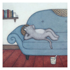Cat Lounging. 10x10
