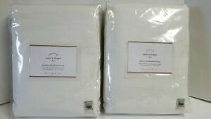 2 POTTERY BARN FOUNDATIONS EMERY DRAPES GROMMET WITH BLACKOUT LINING 50X84 WHITE