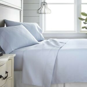 Sferra Luxury Bed Sheets • Queen Size • Light Blue • BRAND NEW