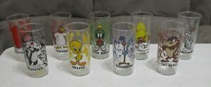 1996 Looney Tunes Warner Bros Store Character Glass Tumblers Choice of 9 NEW