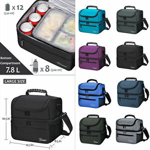 Large Insulated Lunch Bag Totes Cooler Leakproof Container for Men Women Adult