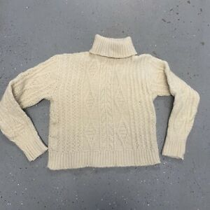 VTG PENDLETON Pure Wool Norwegian Nordic Irish Pullover Crewneck Sweater M