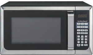 New Hamilton Beach 900W 0.9 Cu. Ft. Counter Top Stainless Steel Microwave Oven