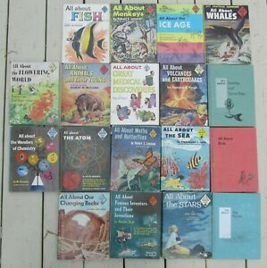 LOT OF 18 VINTAGE ALL ABOUT ALLABOUT BOOKS HARDCOVER 1950'S 1960'S