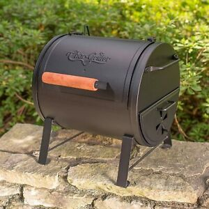 Outdoor Compact Charcoal Grill BBQ Portable Tailgate Cooker Side Fire Box Smoker