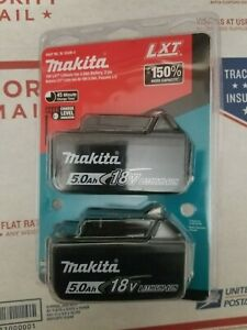 Makita BL1850B-2 18V LXT 5.0a.h. Lithium‑Ion Battery 2-Pack New Sealed Authentic