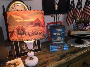 Thanksgiving Turkeys On The Farm From Vintage Images USA Made Lamp Shade