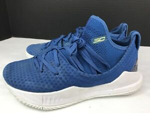 New Under Armour UA CURRY 5 Youth Basketball Shoes Size 5 Blue 3020741 401:HOT $35.00