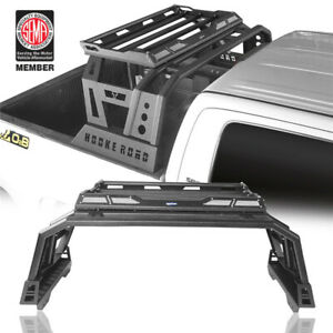 Roll Bar High Bed Rack Top Luggage Carrier Baggage For Toyota Tundra 2014-2020