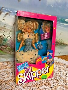 Mattel Super Style Skipper Barbie Doll ~ Barbie's Sister #1915 New 1988 European