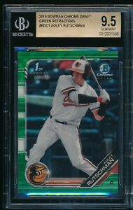 BGS 9.5 ADLEY RUTSCHMAN 1st 2019 Bowman Chrome GREEN REFRACTOR # 99 RC GEM MINT $449.99