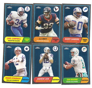 2015 Topps Chrome Football Anniversary set of 60 $77.50