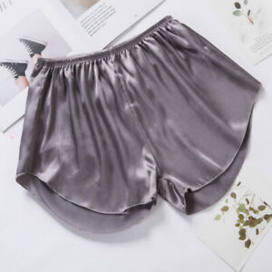 Women Faux Silk Satin Safety Under Shorts Panty Knicker Pants Lounge Bottom Soft $8.16