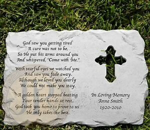 In Loving Memory Personalized Memorial Pet Stone LARGE/SMALL/ LONG LARGE STONE