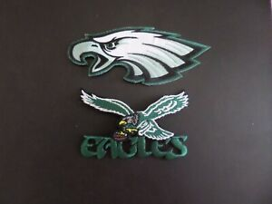LOT OF 2 PHILADELPHIA EAGLES NFLquot; Embroidered Iron On Patches
