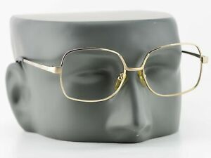 Vintage 70s Citizen Monture Square Gold Stainless Steel Glasses Frames NEW 52 16