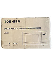 Toshiba EM925A5A-BS Microwave Oven with Sound On/Off Black Stainless Steel