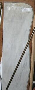 Marble Fireplace mantle shelf Antique marble top bevel 48 inches $170.00