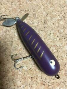heddon magnum torpedo original color purple bones rare side cracks