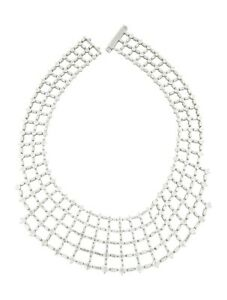 NORMAN SILVERMAN Platinum 84.16ctw Diamond Collar Necklace Includes Designer Box