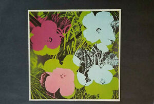 Andy Warhol quot;Flowers quot; Mounted Color offset Lithograph 1973 $39.00