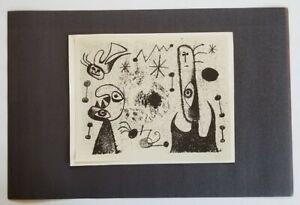 Joan Miro quot;Barcelona Series XLVII quot; Mounted offset Lithograph 1973 PlateSigned $39.00