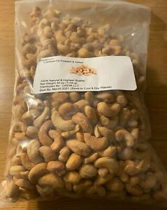 2.5 Lbs Cashews Oil Roasted and Salted (EXCELLENT GIFT ITEM)