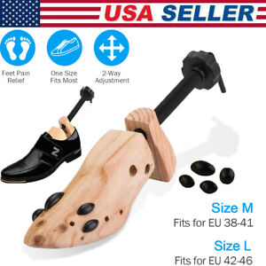 Pair of Adjustable 2 way Expander Wooden Shoe Stretcher for US Mens Size 5 12