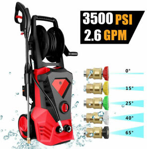 3500PSI 2.6GPM Electric Pressure Washer High Power Cold Water Cleaner Machine ~