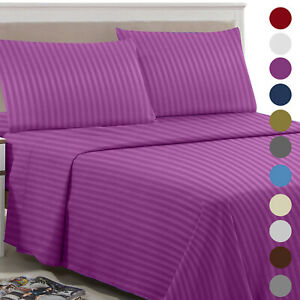 1800 Count 4 Piece Bed Sheet Set Luxury Ultra Soft Deep Pocket Hotel Bed Sheets