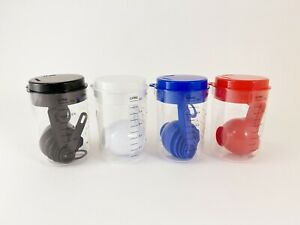 1 Plastic Measuring Cup with Lid and 6 Measuring Spoons Set 4 Colors available